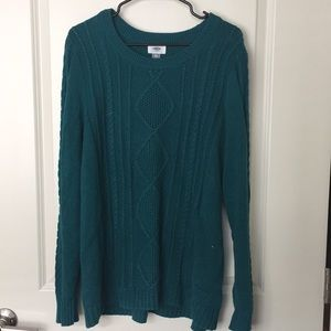 Teal Cable Knit Sweater